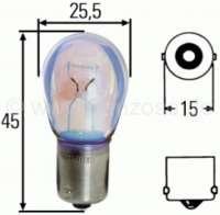 ampoule 12volts, culot Ba15s, 21 Watt, pour clignotants ou feux de stop   14035   Der Franzose - www.franzose.de