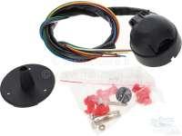 faisceau électrique d'attelage - câbles et prise, sans centrale clignotant ni témoin, 12 volts, 7 pôles   14151   Der Franzose - www.franzose.de