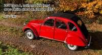 capote, Citroën 2CV type A, noir, modèle long avec petite glace ar. jusque 1957, livrée avec les 2 crochets de fixation pour le milieu des brancards de toit. Si nécessaire, commandez séparément les crochets de la caisse arrière, autour de la lunette.   17096   Der Franzose - www.franzose.de