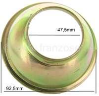 coupelle en tôle cardan côte boîte de vitesse, n° d'origine AM37389, diamètres int. 47,5mm et 80mm | 12243 | Der Franzose - www.franzose.de