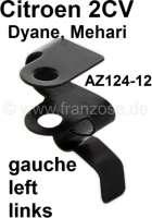 agrafe de câble de commande de volet d'échangeur d'air gauche, 2CV, n° d'origine AZ12412, refabrication   14512   Der Franzose - www.franzose.de