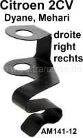 agrafe de câble de commande de volet d'échangeur d'air droite, 2CV, n° d'origine AM14212, refabrication   14517   Der Franzose - www.franzose.de