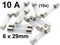 fusible en verre 10A, 6 x 29mm, fusible spécial pour porte fusible ref 75309, qté: 10 unité | 75332 | Der Franzose - www.franzose.de