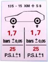 autocollant, Citroën Méhari 4x4, Pression de vos pneumatiques | 16342 | Der Franzose - www.franzose.de