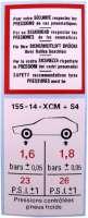 autocollant, Citroën Méhari 4x4, Pression de vos pneumatiques en 4 langues | 16343 | Der Franzose - www.franzose.de