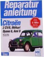 livre en Allemand: Reparaturanleitung 2CV alle Modelle, Band 1202, éditions Bücheli, réédition du manuel de 1993, 150 pages.   10072   Der Franzose - www.franzose.de