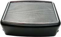 haut-parleur rectangulaire pour montage en surface, grille chromée, l'unité. Dimensions: 175x128mm, hauteur: 60mm à l'avant, 80mm à l'arrière | 18512 | Der Franzose - www.franzose.de