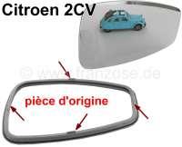 rétroviseur de porte droite ou gauche, Citroën 2CV, un miroir et un cadre plastique pour réfection d'un rétroviseur d'origine. Solution simple et économique pour restaurer les rétroviseurs dont le cadre plastique est fissuré ou la glace cassée. Demande une ou deux minutes de travail pour les changer. Important : miroir et cadre fourni par le fabricant d'origine, aux dimensions (épaisseur) d'origine et avec la forme (crochets) d'origine | 16392 | Der Franzose - www.franzose.de