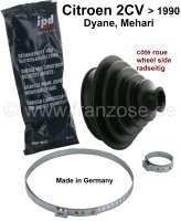 gaine de cardan côté roue, 2CV6, 2CV4, avec colliers et graisse, produit de marque, made in Germany. | 12342 | Der Franzose - www.franzose.de