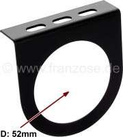 cadre 1 instrument diamètre 52mm, tôle noir, Traction - 11cv et 15six et autres anciennes | 60108 | Der Franzose - www.franzose.de