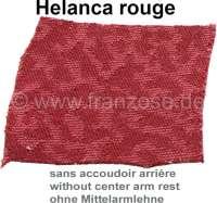 garnitures de siège Helanca, Citroën DS jusque 1962, tissus nylon Helanca rouge, habillages de sièges avant et banquette arrière, modèle avec dossier de siège avant bas et sans accoudoir central de banquette arrière | 38595 | Der Franzose - www.franzose.de