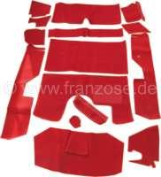 jeu de moquettes, DS Pallas, 14 pces, rouge claire, livré sans mousse | 38592 | Der Franzose - www.franzose.de