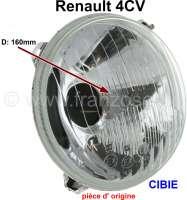 reflecteur de phare, Renault 4cv, Cibié, pièce d'origine, origine : stock d'époque provenant d'Espagne, limité jusque épuisement du stock   85422   Der Franzose - www.franzose.de