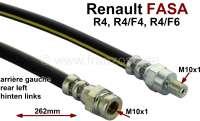 flexible de frein arrière, Renault 4L fourgonnette, arrière gauche, pour R4F4, R4F6 avec régulateur arrière gauche et version espagnole   84366   Der Franzose - www.franzose.de